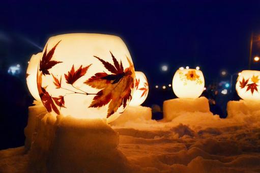 小樽雪あかりの路のランタン3