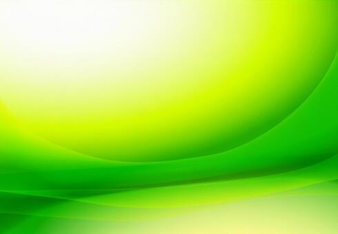 Green streamline abstract background material