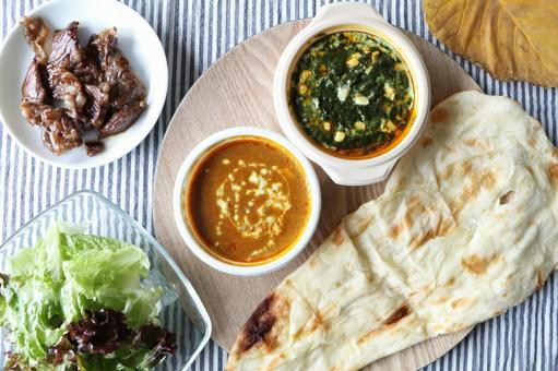 Indian curry and naan (3)