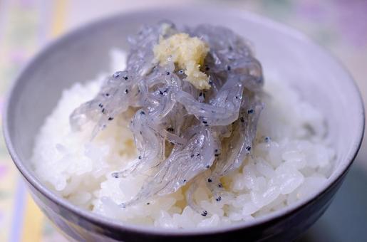 Raw rice bowl