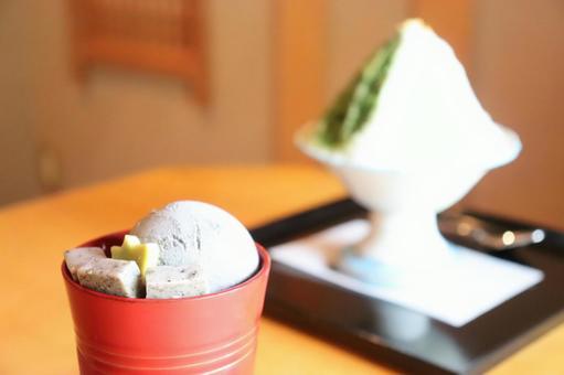 黑芝麻凍糕和刨冰③