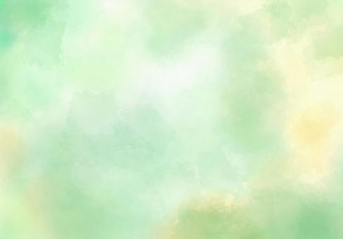 Watercolor texture / refreshing yellow-green background
