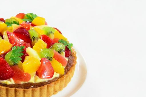 Fruit and strawberry cake Fruit tart Perfect for Christmas