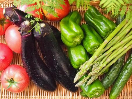Colorful summer vegetables