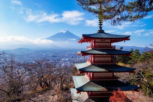 Arakurayama Sengen Park Chureito Pagoda and Mt. Fuji
