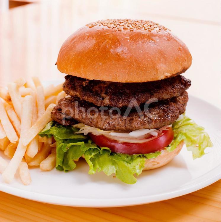 ハンバーガーセット3の写真