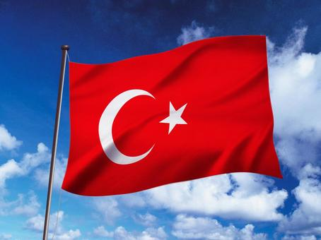 Sky image with flag of turkey