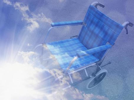 Wheelchair light and sky 01