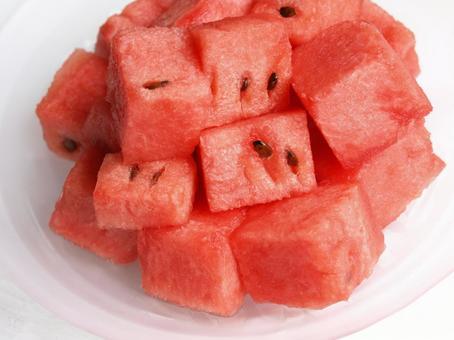 Sliced watermelon, watermelon