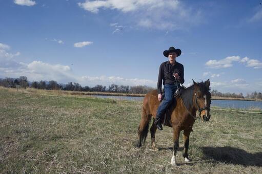 Cowboy on horse 9