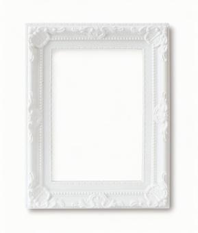 Photo frame White luxury (psd background transparent)