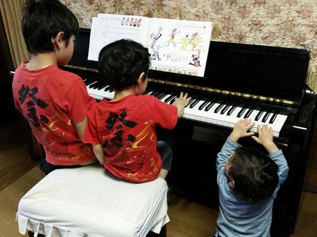 Brothers and pianos