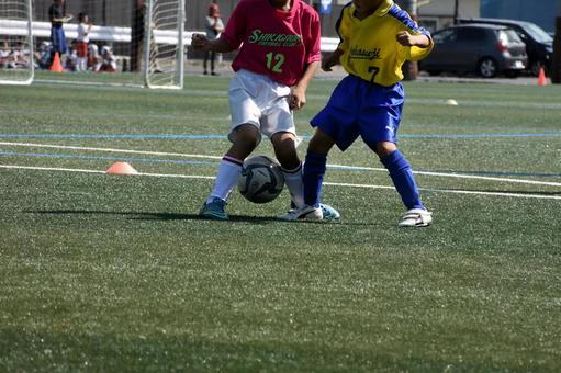 Boy football, district convention, close battle 7
