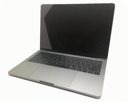 Laptop computer (white background)