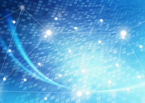 디지털 사이버 컴퓨터 블루