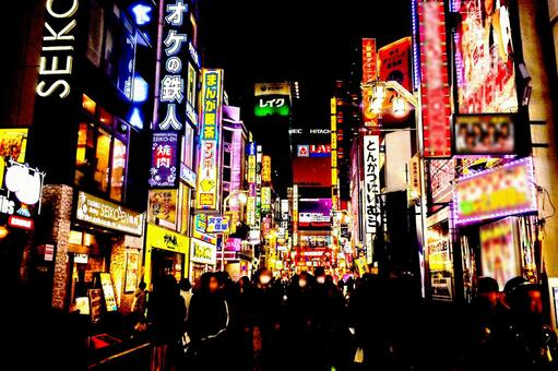 Kabukicho Night view Neon 3