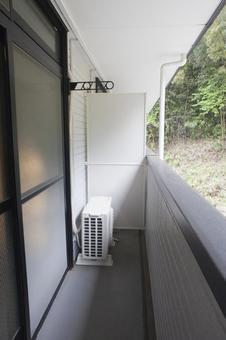 Veranda of apartment