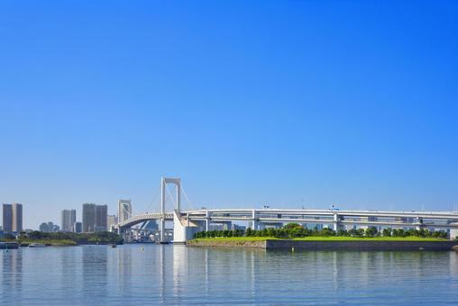 Blue sky and Rainbow Bridge