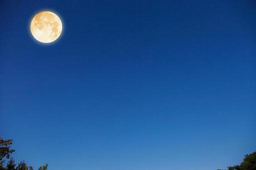 보름달 밤하늘