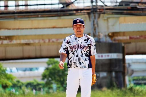 Male person baseball daddy sports smile