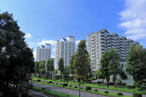 푸른 하늘과 아파트 _2