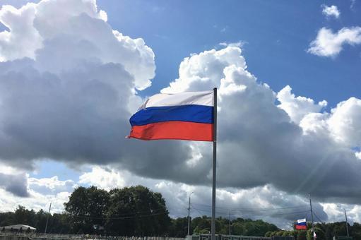 러시아 국기 상트 페테르부르크, 러시아.