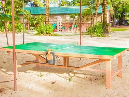 海边乒乓球桌