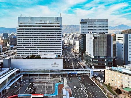 Scenery of Hiroshima City Hiroshima Station North Exit