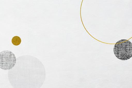 圓形圖案日本紙紋理_日本現代圖案框架背景材料