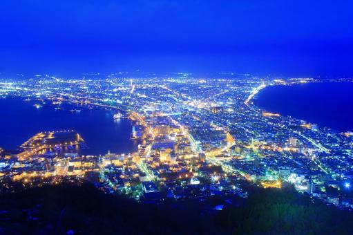 Night view of Mt. Hakodate Magic hour