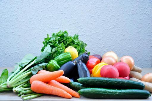 A lot of greens and yellow vegetables # 2