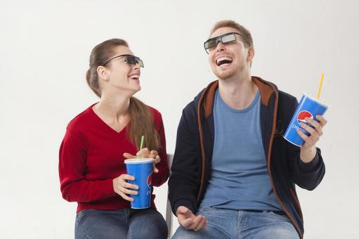 Couple seeing 3D movies 9