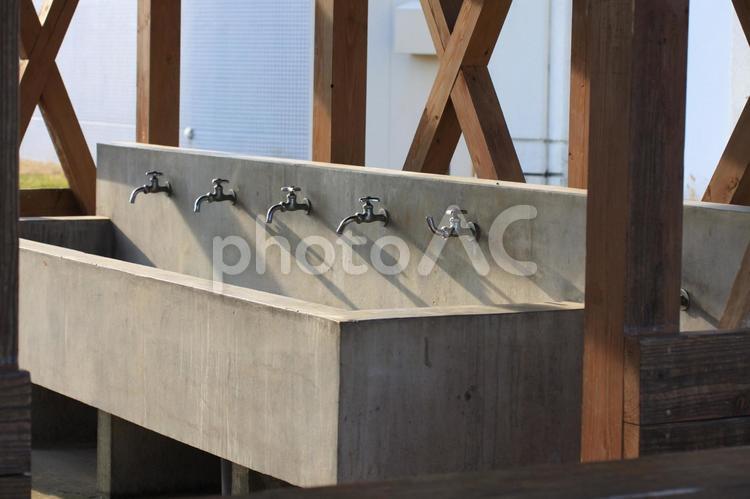 バーベキューの炊事場の写真