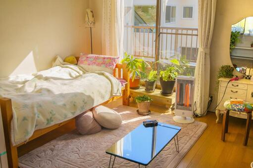 Women's rooms living alone · Winter room