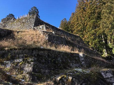 Castle tower Iwamurajo Gifu Gifu prefecture Iwamura castle Ishigaki Iwamura castle ruins Ishigaki