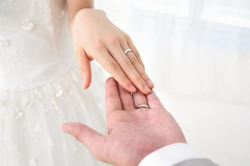 Bride and groom's hand 2