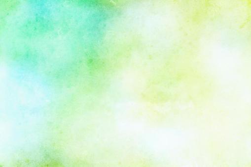 綠色和黃綠色水彩般的紋理顏色背景