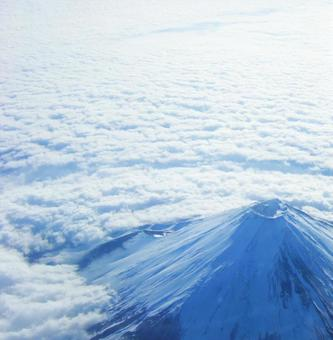 Fuji seen from the sky