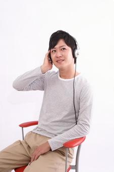 Male listening to music 8