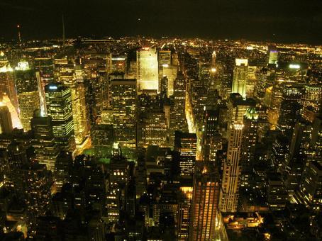 紐約曼哈頓城市景觀和夜景
