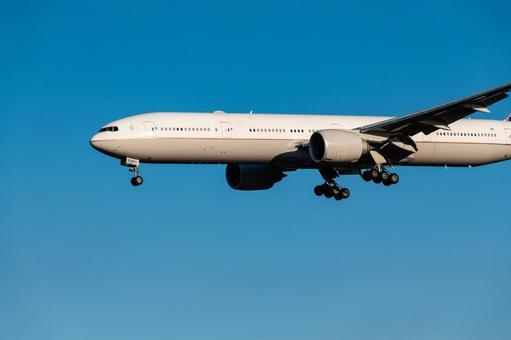 Passenger aircraft B777-300 final approach to Narita