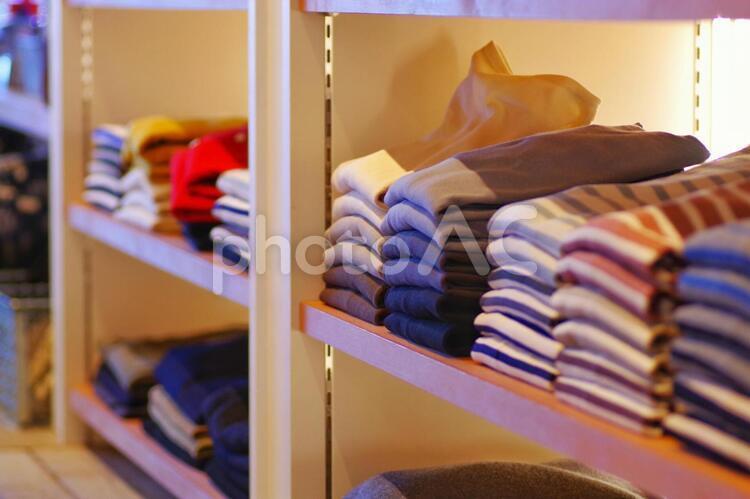 洋服売り場の写真