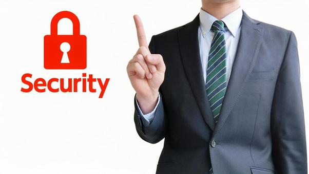 Security and businessmen