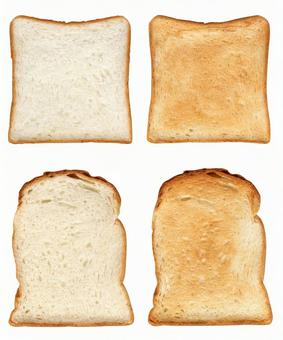 Cutout material square type bread & amp; mountain type bread set 1