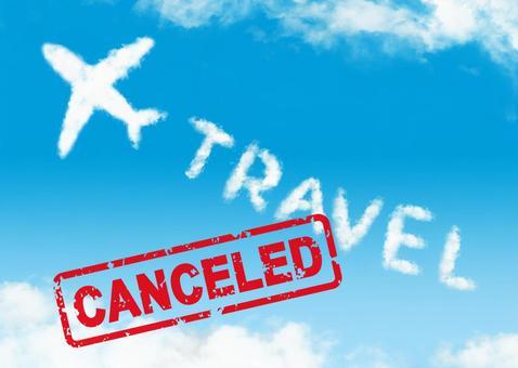 여행이 취소!