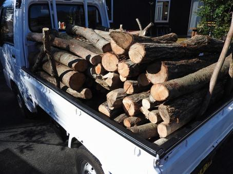 Firewood and light truck 02
