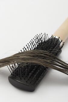 Hair and brush 7