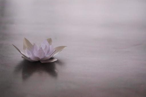 Lotus flower made of paper