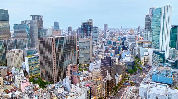 Cityscape of Umeda, Osaka