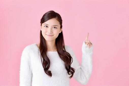 Pointing woman 6